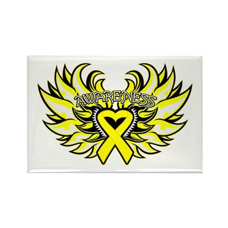 Sarcoma Heart Wings Rectangle Magnet