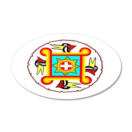 SOUTHEAST INDIAN DESIGN 35x21 Oval Wall Decal