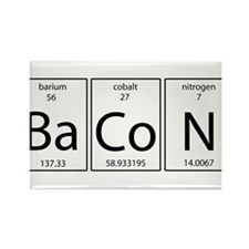 Bacon periodic Rectangle Magnet (10 pack)