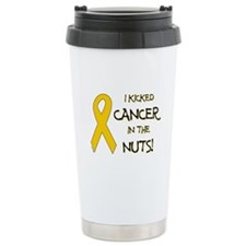 I KICKED CANCER... Ceramic Travel Mug