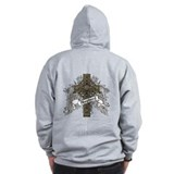 Shepherd Tartan Cross Zip Hoodie