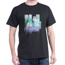 Paris Parkour Graffiti Black T-Shirt