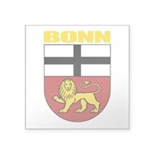 "Bonn (gold).png Square Sticker 3"" x 3"""