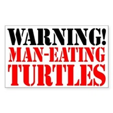 Man Eating Turtles Sticker (3 x 5)