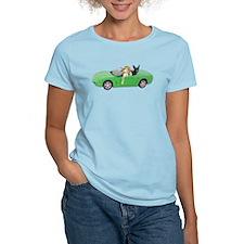 Dogs Green Car T-Shirt