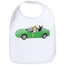Dogs Green Car Bib
