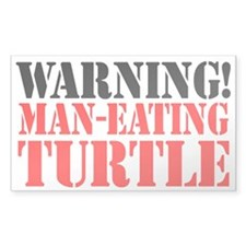 Man Eating Turtle Sticker (3 x 5)