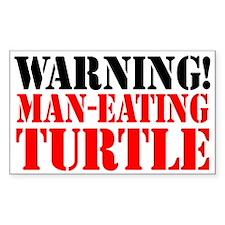 Man Eating Turtle Sticker (3 x 5)