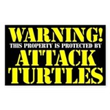 Attack Turtles Sticker (3 x 5)