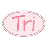 Triathlon Pink Chevron Decal