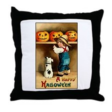 Country Store Halloween Throw Pillow