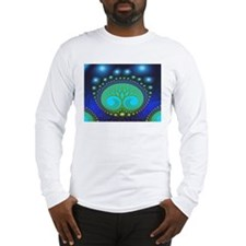 """Celestial Forest"" Fractal Art Long Sleeve T-Shirt"