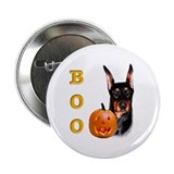 Halloween Doberman Boo Button