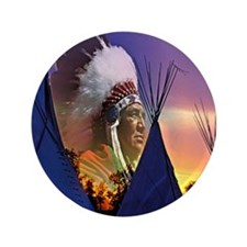 """Native American 3.5"""" Button (100 pack)"""