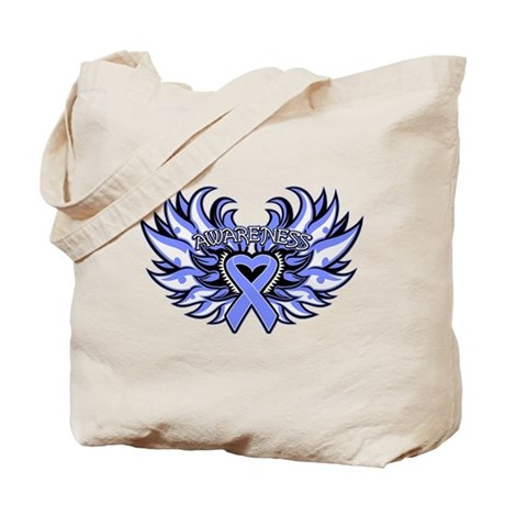 Intestinal Cancer Heart Wings Tote Bag