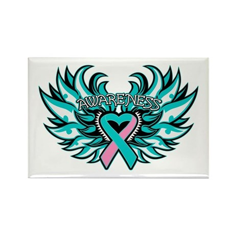 Hereditary Breast Cancer Heart Wings Rectangle Mag