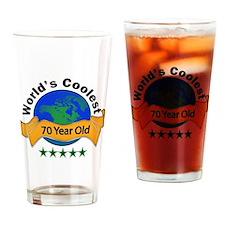 Cute 70th birthday ideas Drinking Glass