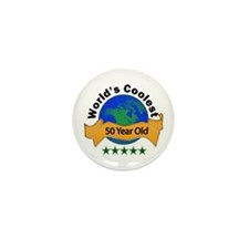 Cool Cute 50th birthday Mini Button (10 pack)
