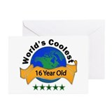 Cute 16th birthday Greeting Cards (Pk of 10)