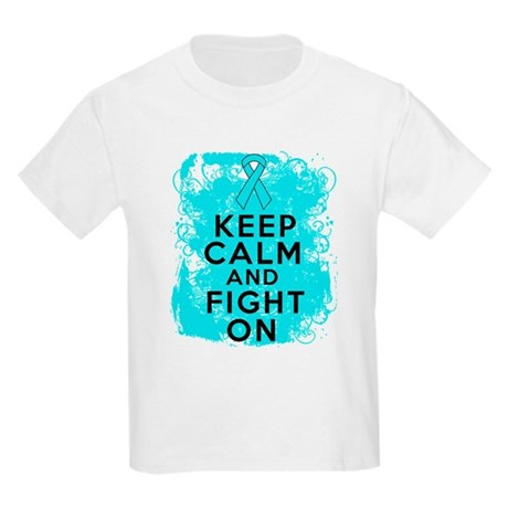 Addiction Recovery Keep Calm Fight On Kids Light T