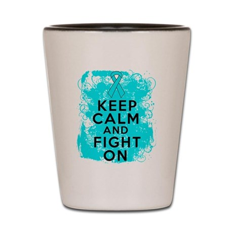 Addiction Recovery Keep Calm Fight On Shot Glass