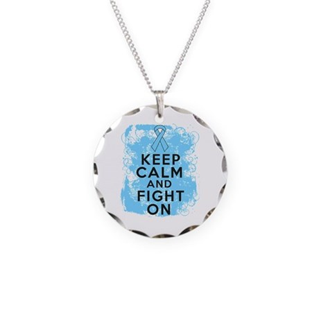 Addisons Disease Keep Calm Fight On Necklace Circl