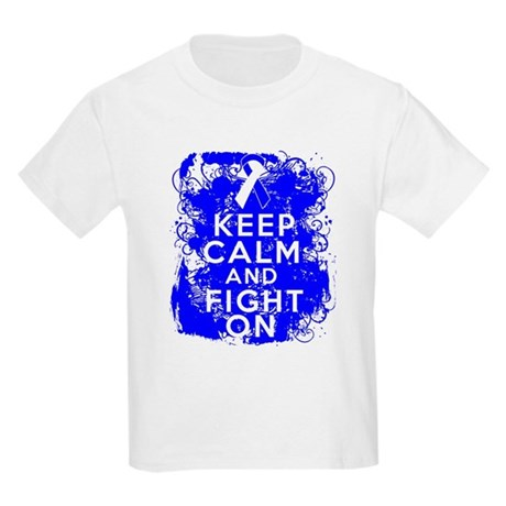 ALS Keep Calm Fight On Kids Light T-Shirt