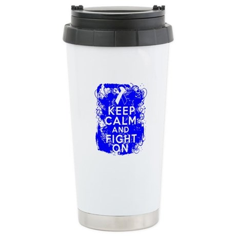 ALS Keep Calm Fight On Ceramic Travel Mug