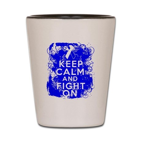 ALS Keep Calm Fight On Shot Glass