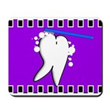 tooth blanket 5 purple.PNG Mousepad