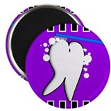 "tooth blanket 5 purple.PNG 2.25"" Magnet (100 pack)"
