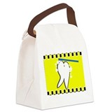 tooth blanket 4 yellow.PNG Canvas Lunch Bag