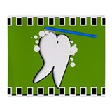 Tooth blanket 2 green.PNG Throw Blanket