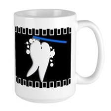 Tooth blanket 1 black.PNG Mug