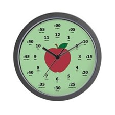 Teacher's Apple Wall Clock