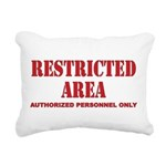 Restricted Area Rectangular Canvas Pillow