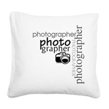 photographer1.png Square Canvas Pillow