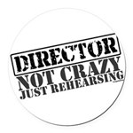 director.png Round Car Magnet