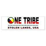 One Tribe Bumper Car Sticker