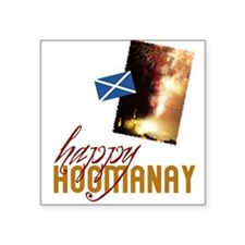 """hogmanay-fireworks.png Square Sticker 3"""" x 3"""""""