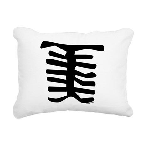 Skeleton Rectangular Canvas Pillow