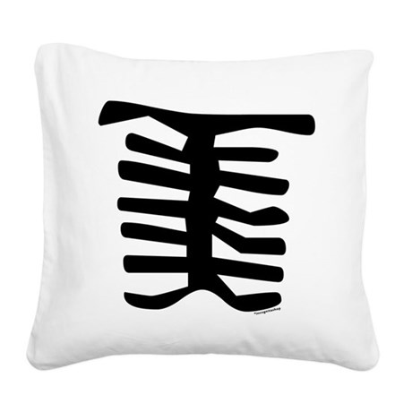 Skeleton Square Canvas Pillow
