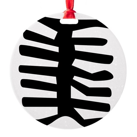 Skeleton Round Ornament
