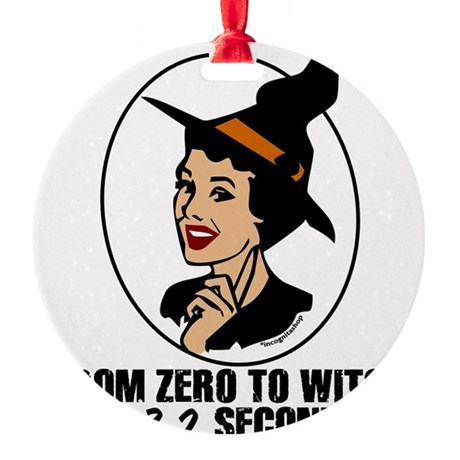 Zero to Witch Round Ornament