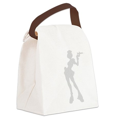 girl3.png Canvas Lunch Bag