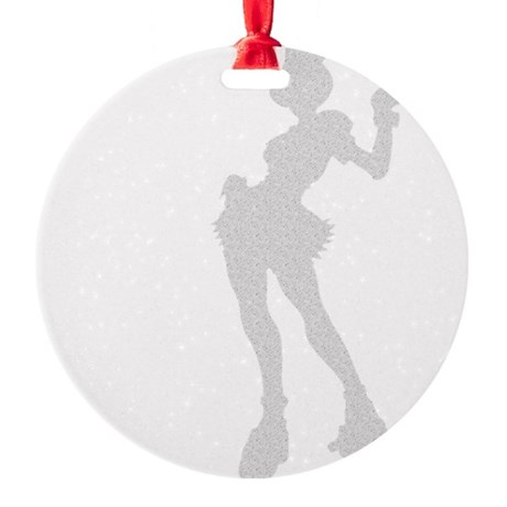 girl3.png Round Ornament