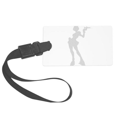 girl3.png Large Luggage Tag