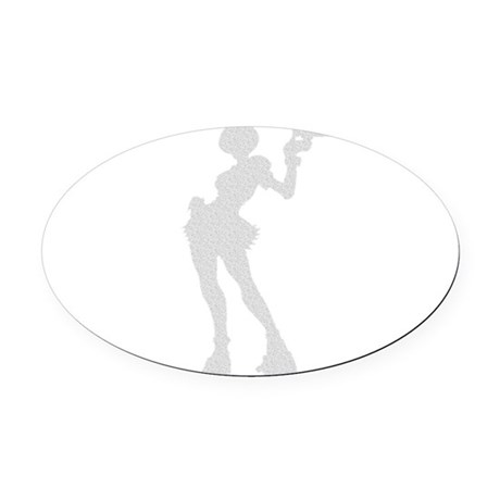 girl3.png Oval Car Magnet