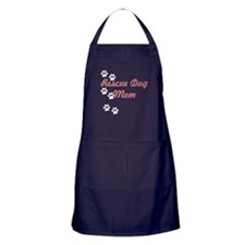Rescue Dog Mom Apron (dark)
