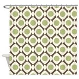 Abstract Dots Shower Curtain